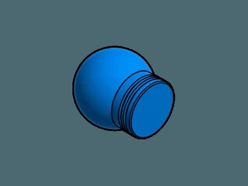 Blindstopfen Aluminium farbig