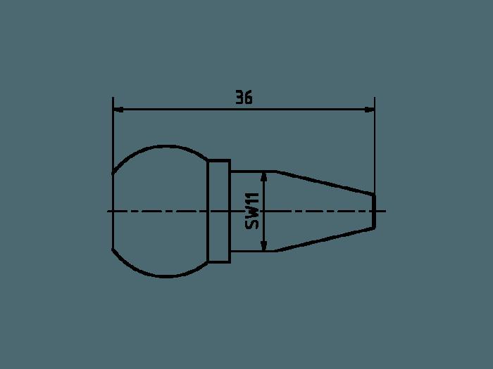 Duese 2.0 Aluminium farbig