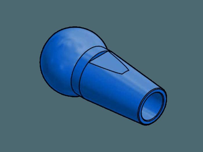 Duese 8.0 Aluminium farbig