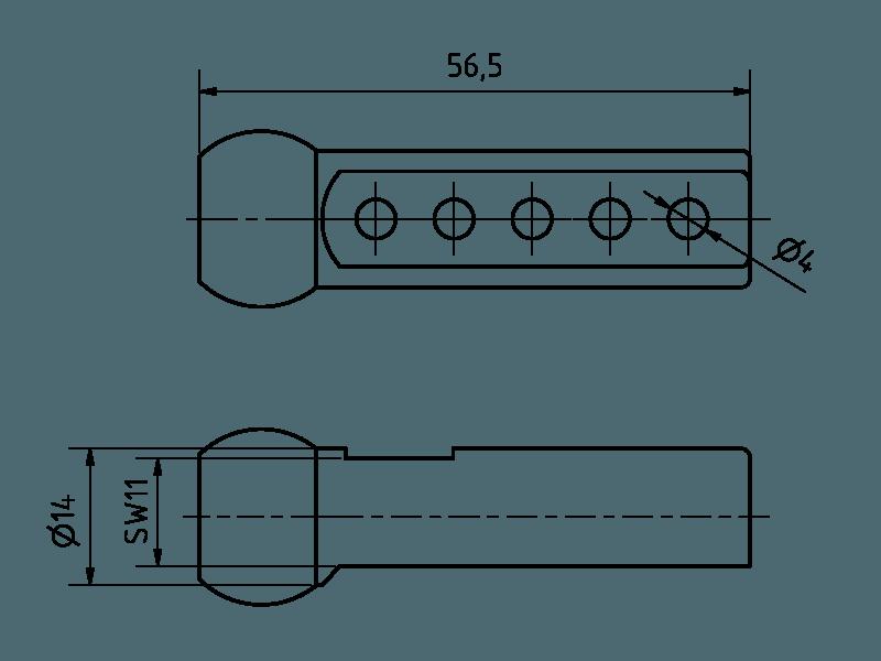 Duese 5x Bohrung (56.50mm)