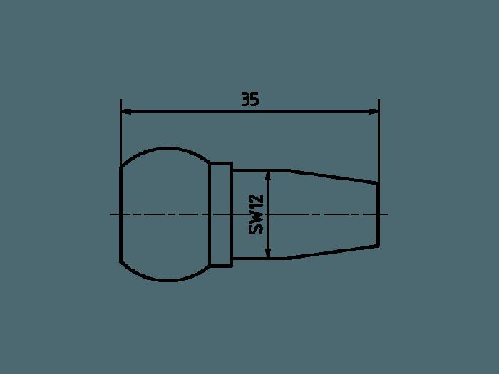 Duese 6.0 Aluminium farbig