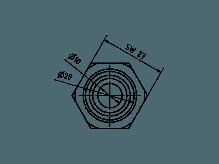 Hydraulikanschluss 40mm