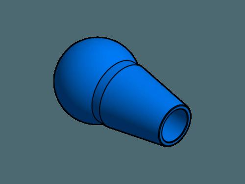 Duese 10,0, Aluminium farbig