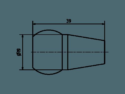 Duese 14,0 Aluminium farbig