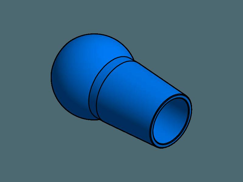 Duese 14,0, Aluminium farbig